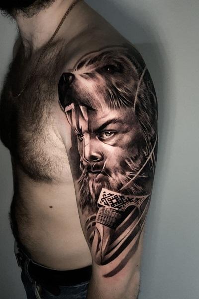 татуировка викинг берсерк в Новосибирске