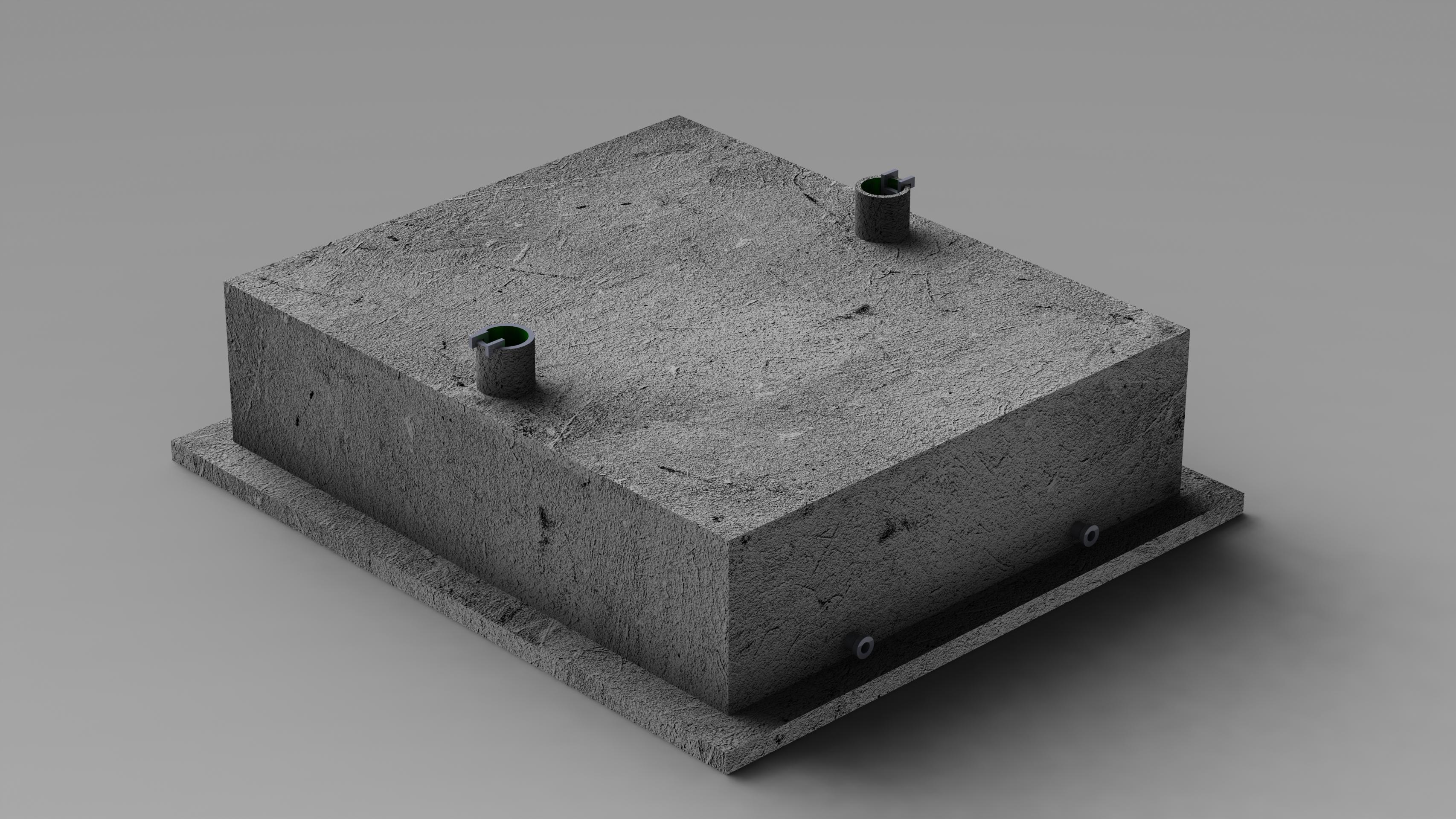 Модель подземной емкости для отходов