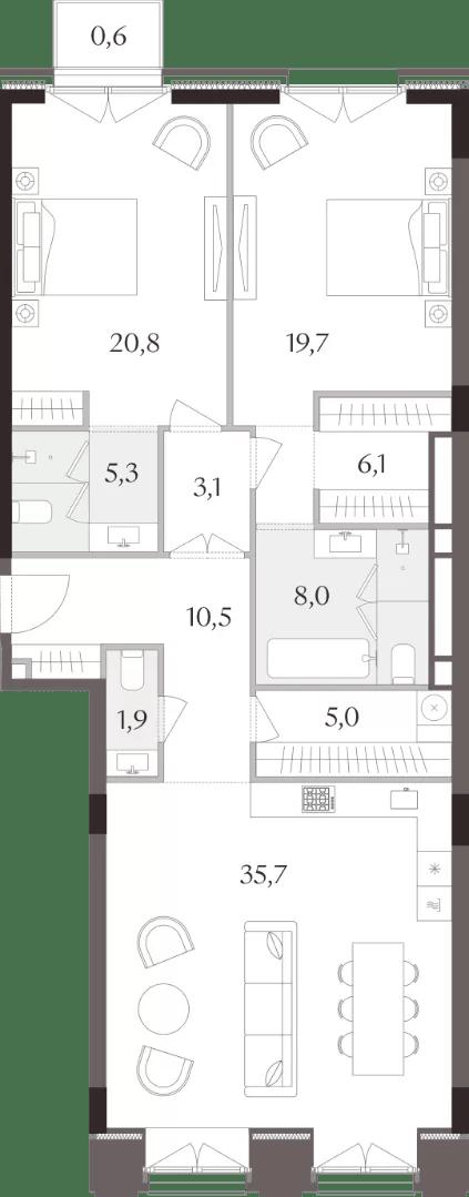 Планировки 2-комнатных квартир
