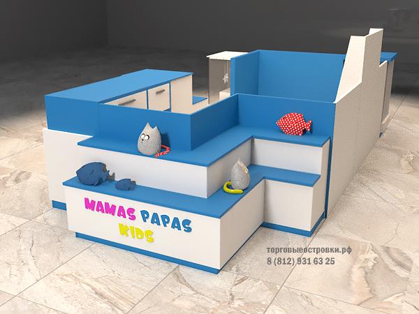 торговый островок игрушек и детских товаров