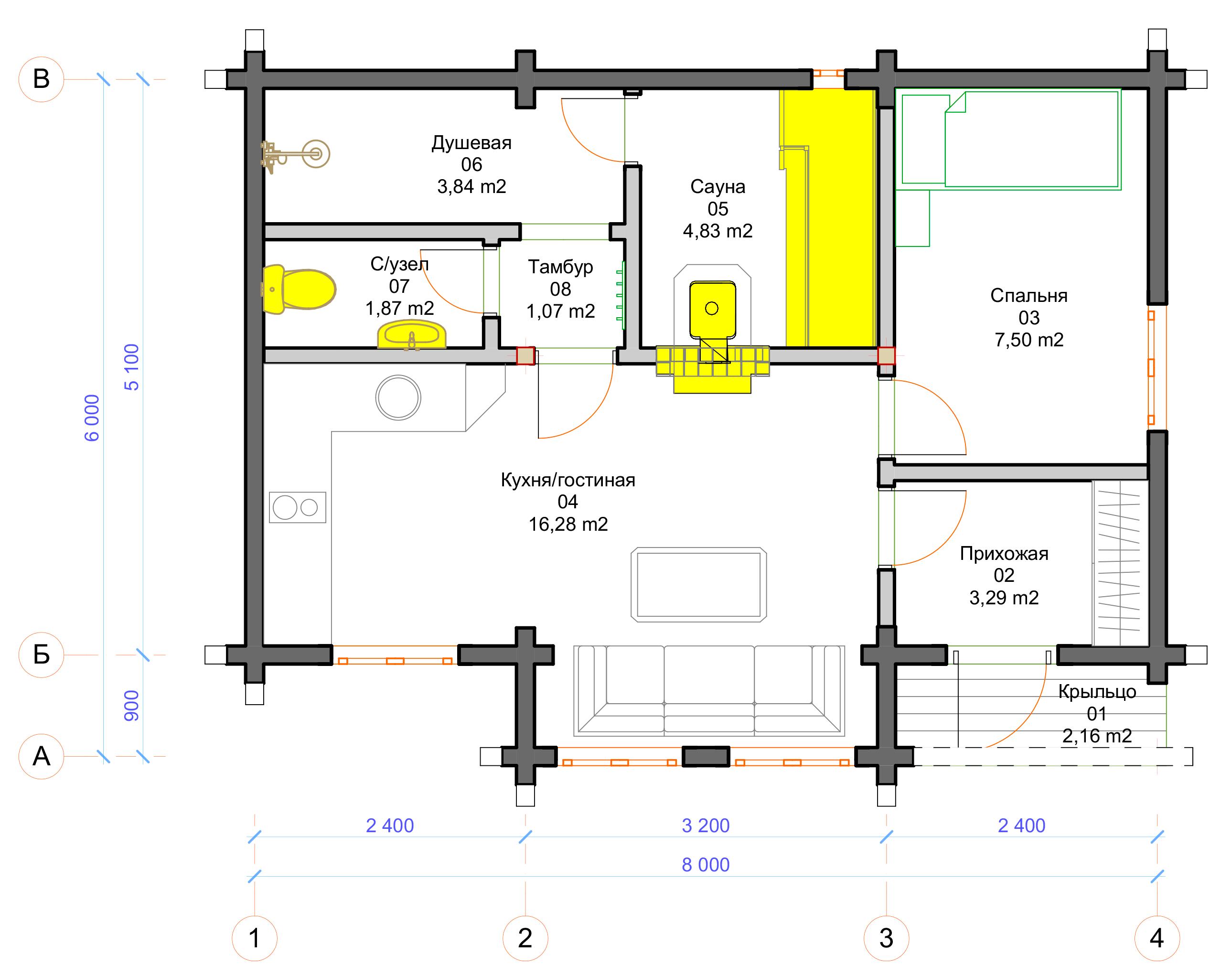 План первого этажа Corba (Баня Корба)