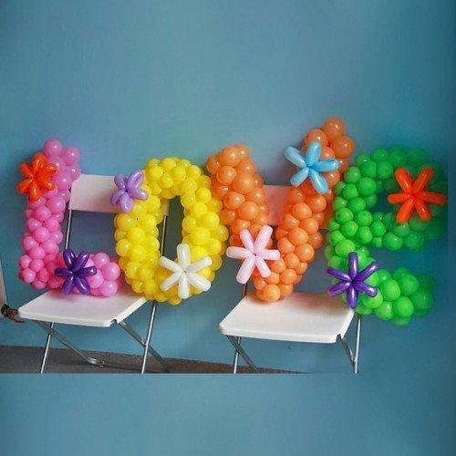 Буквы   из шариков