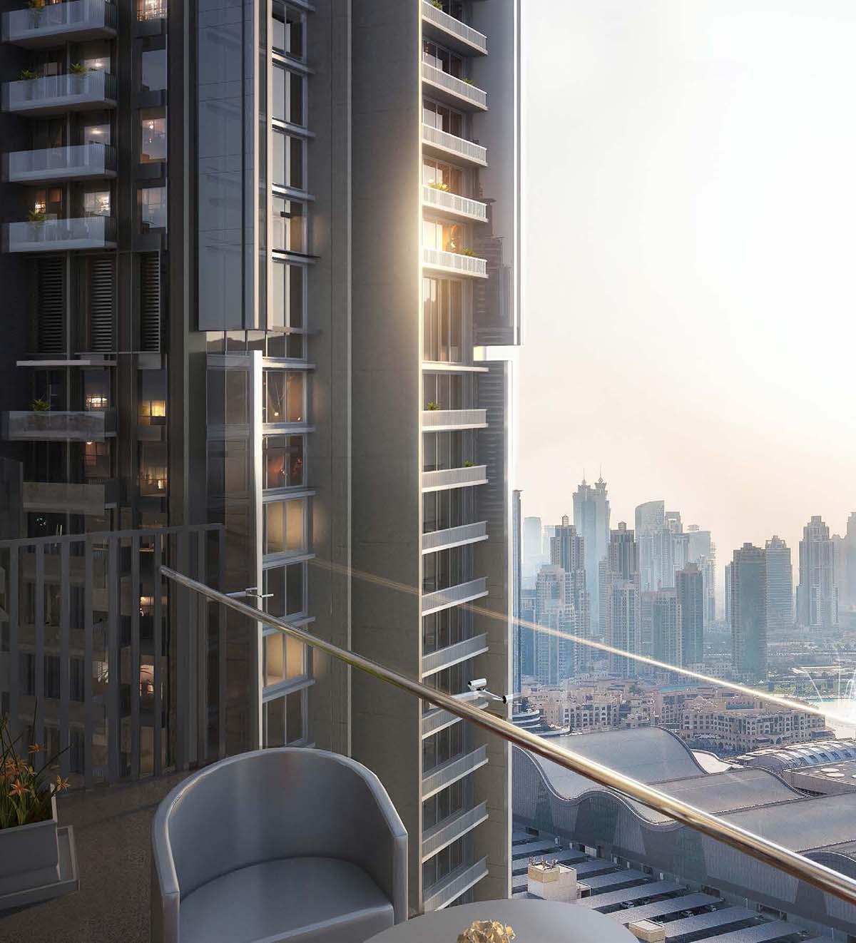 تقع الشقق الفندقية المخدومة في داون تاون دبي
