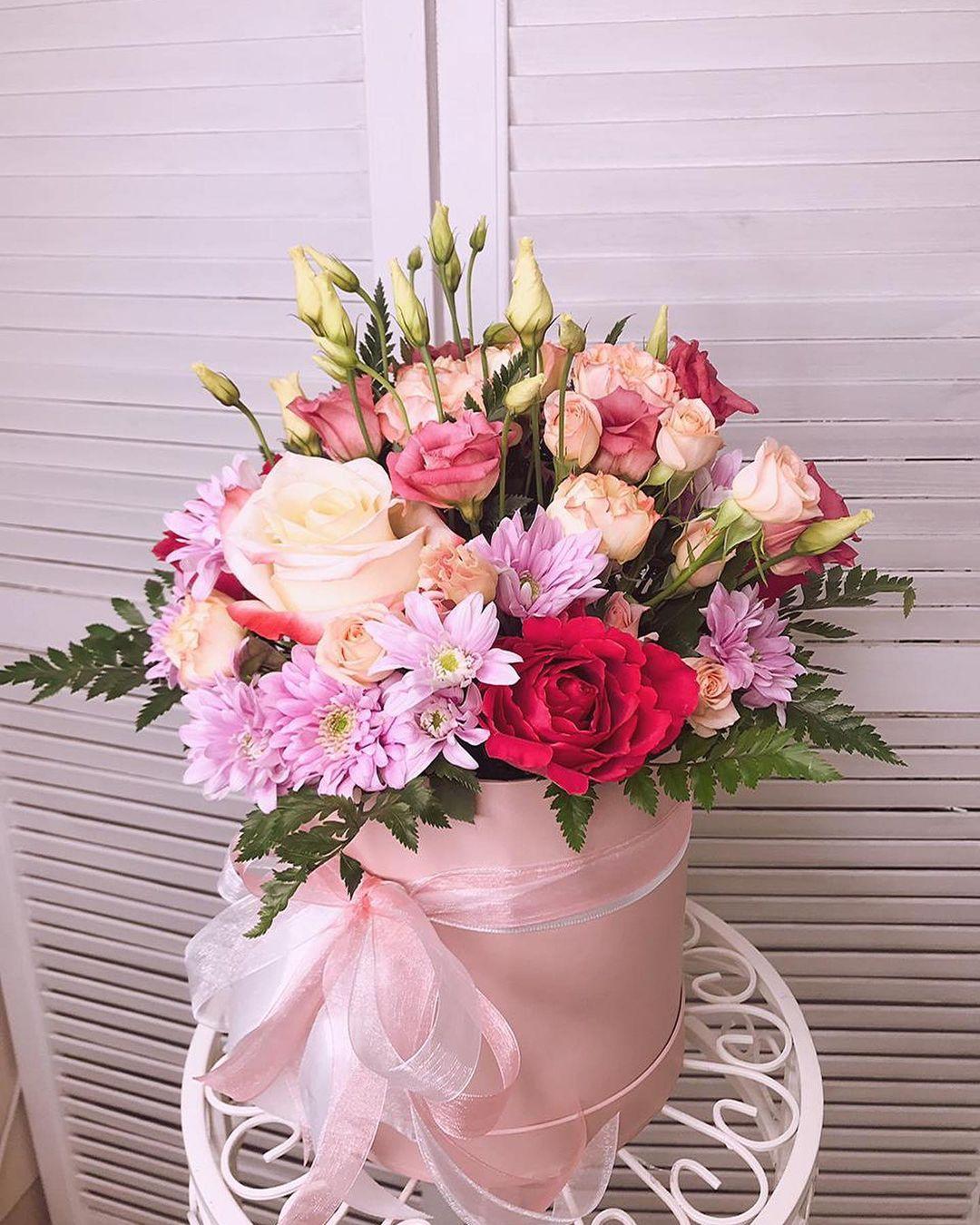 Букет цветов в коробке