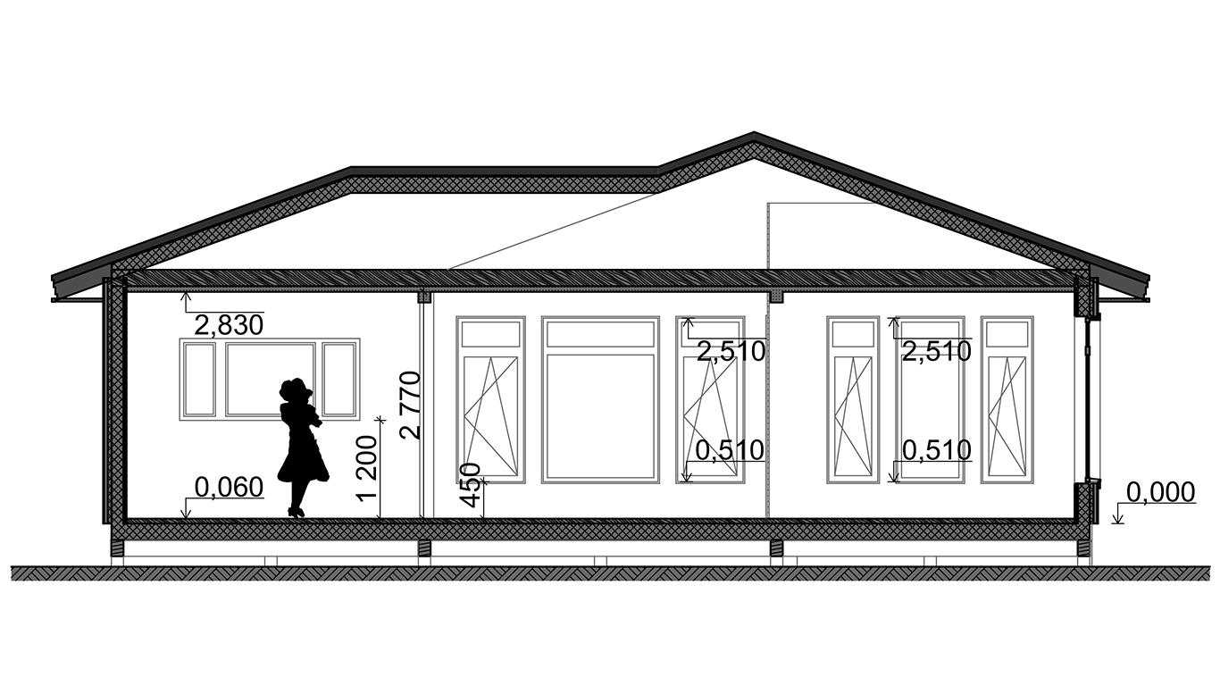 Разрез Nesse Rahmenhaus (Каркасный дом Гессе)