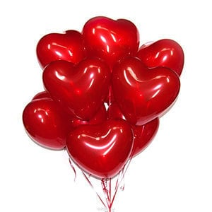 Шары Красные сердца большие за штуку