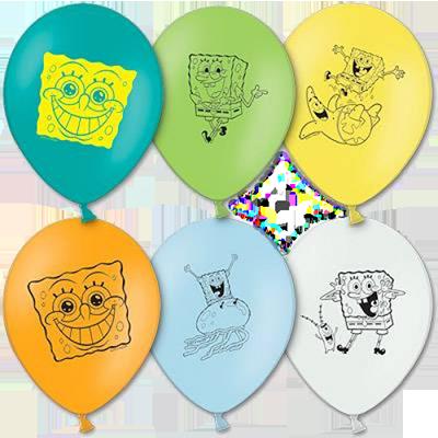 Гелиевые шарики Губка Боб