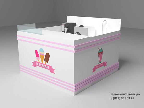 торговый островок по продаже мороженого
