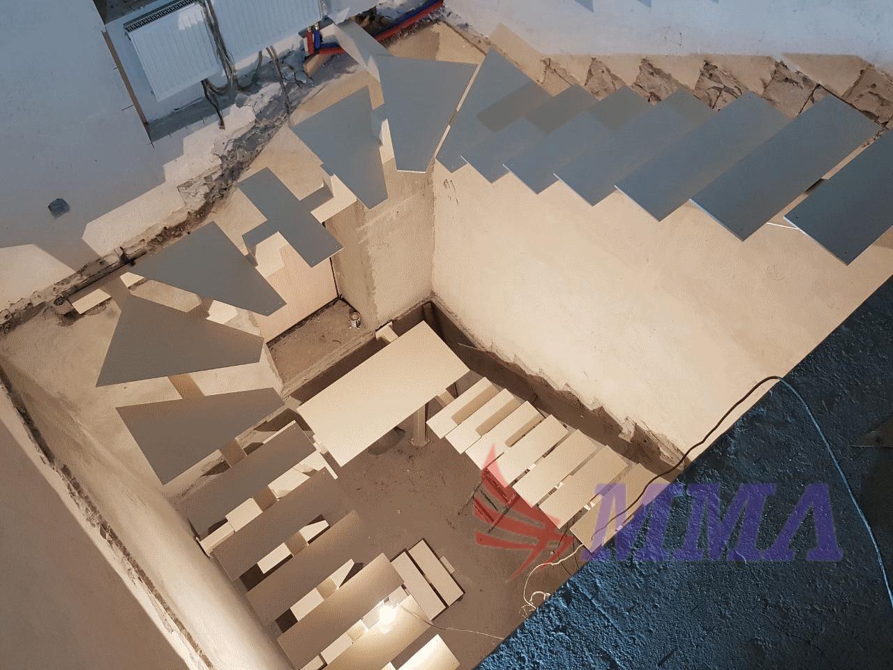 лестница, монокосоур, каркас, металлокаркас,