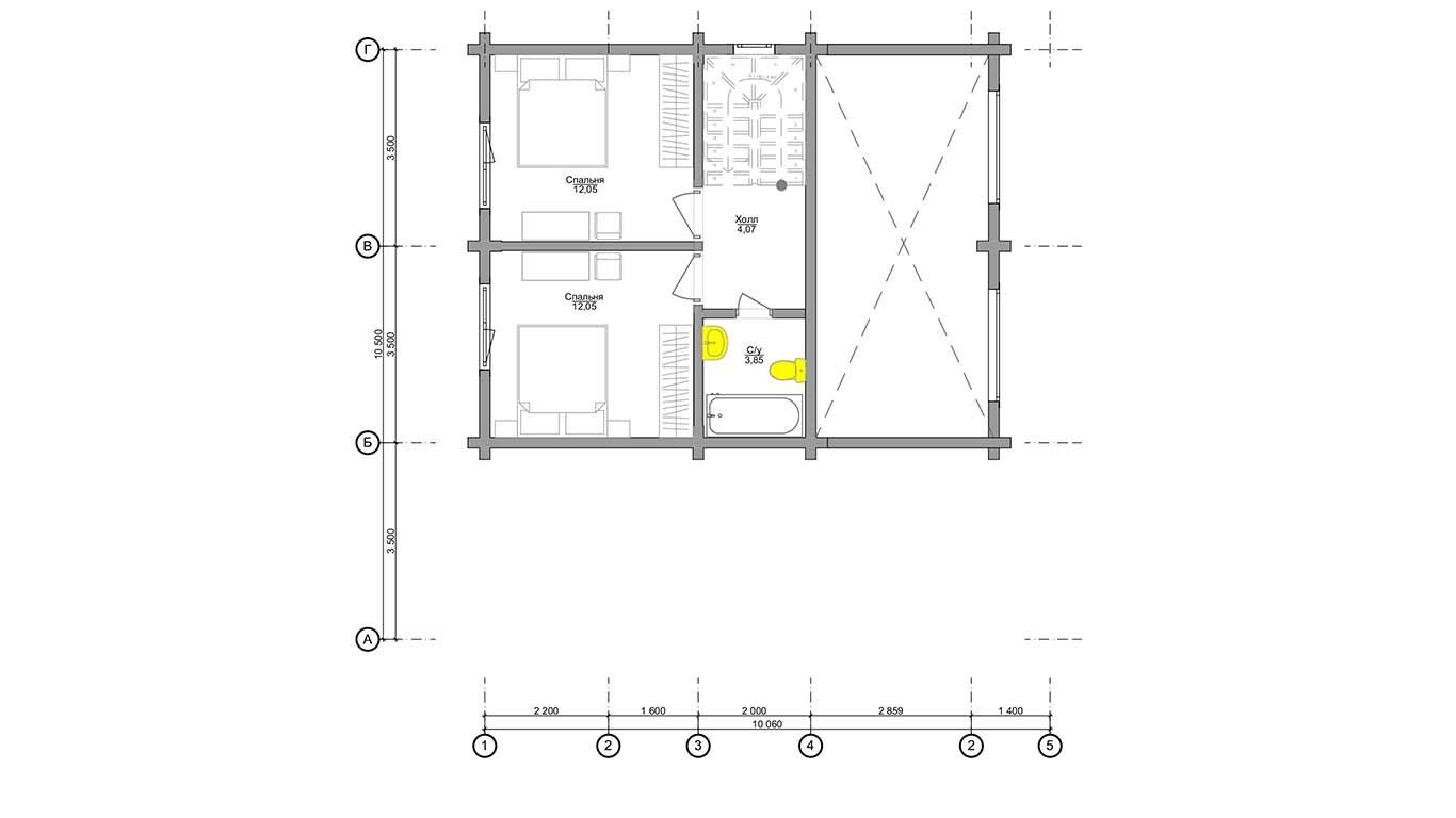 План второго этажа Ingolstadt 2.0 (Дом Ингольштадт 2.0)