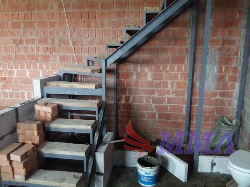 каркас, металл, лестница, дом,