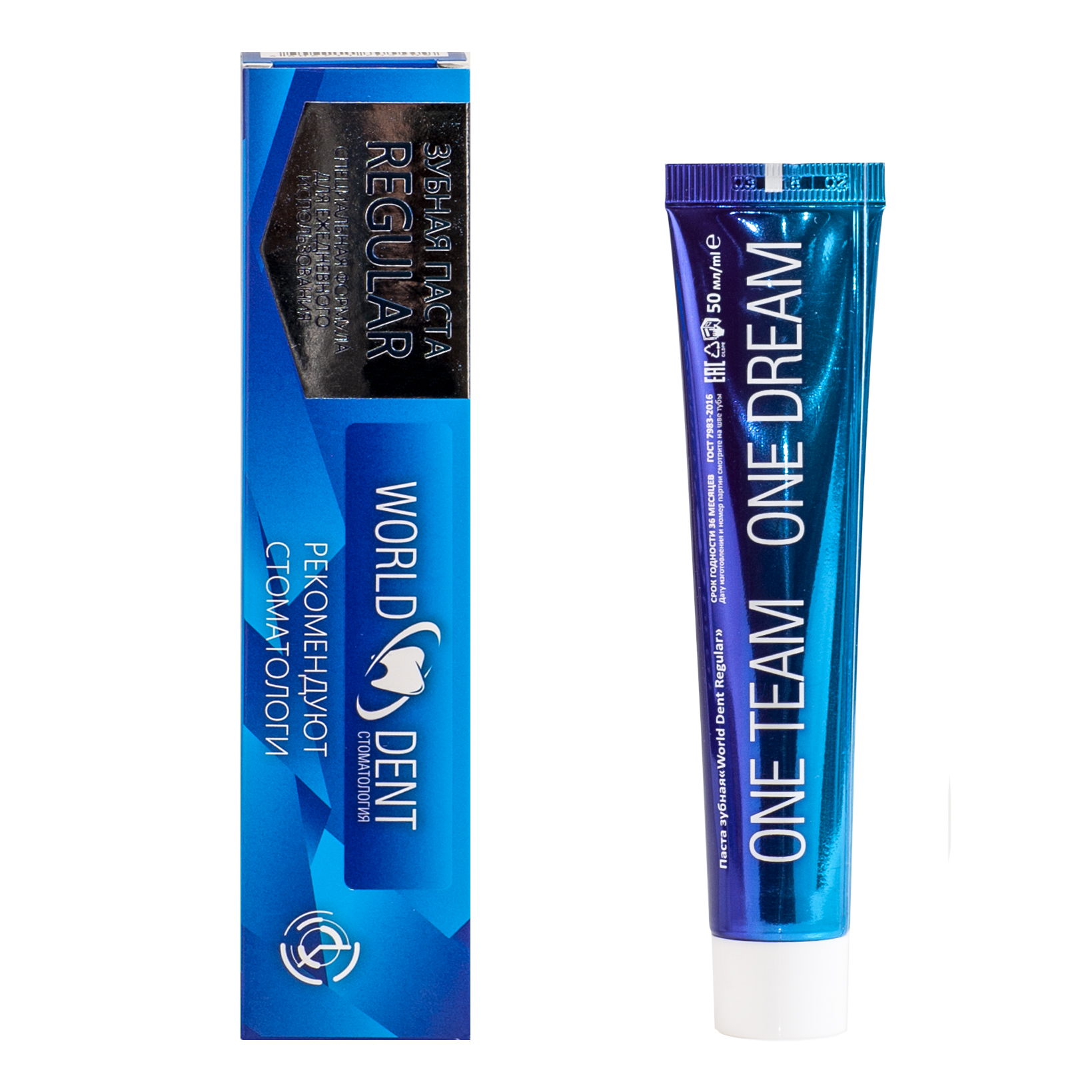 зубная паста world dent regular