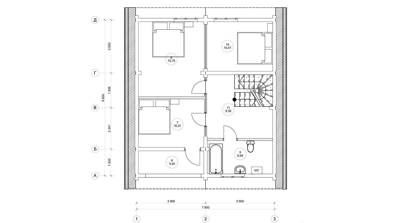 План второго этажа Magdeburg (Дом Магдебург)