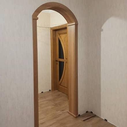 Межкомнатная арка в цвете ольха
