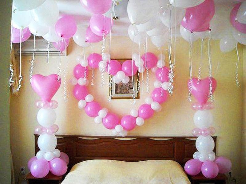 Оформление шарами для любимой №2