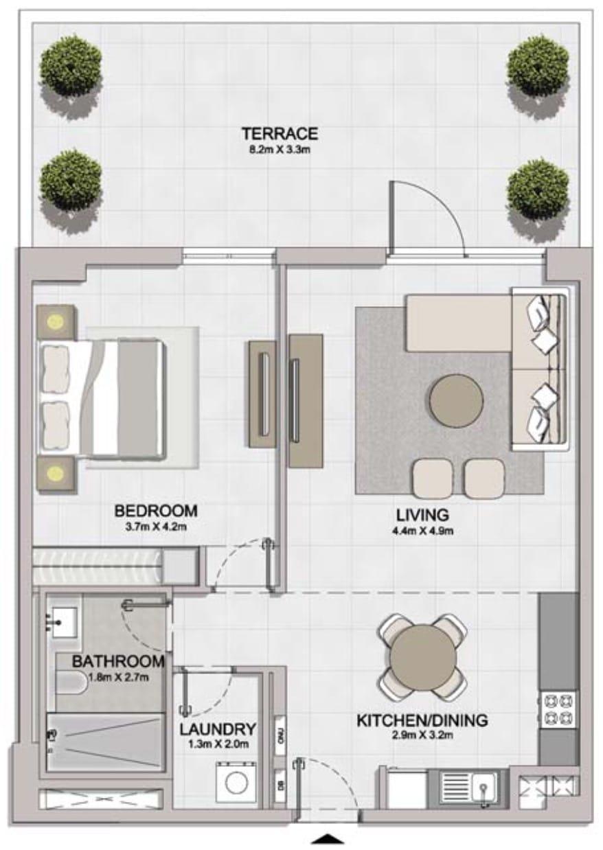 Floor Plans of Meraas Port De La Mer: Apartments for Sale in Dubai Jumeirah