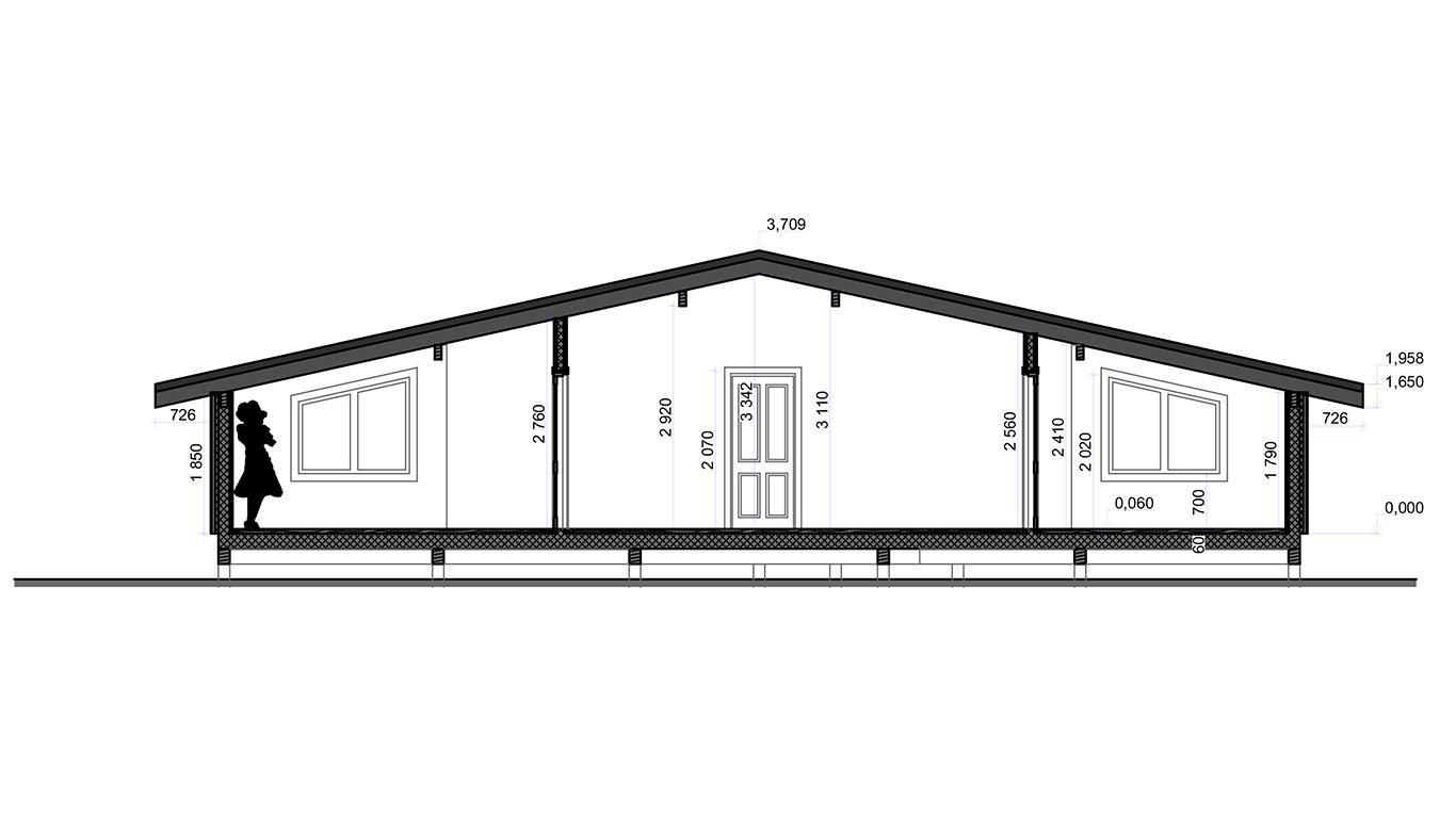 Разрез Villingen Rahmenhaus (Каркасный дом Филлинген)