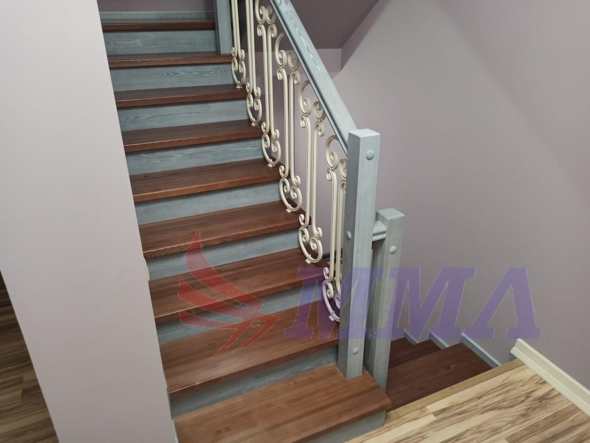 обшивка лестница, лестница, металлокаркас,