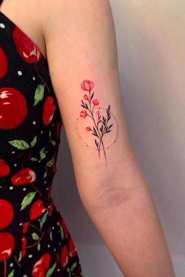 татуировка фотография эскиз на руке лес
