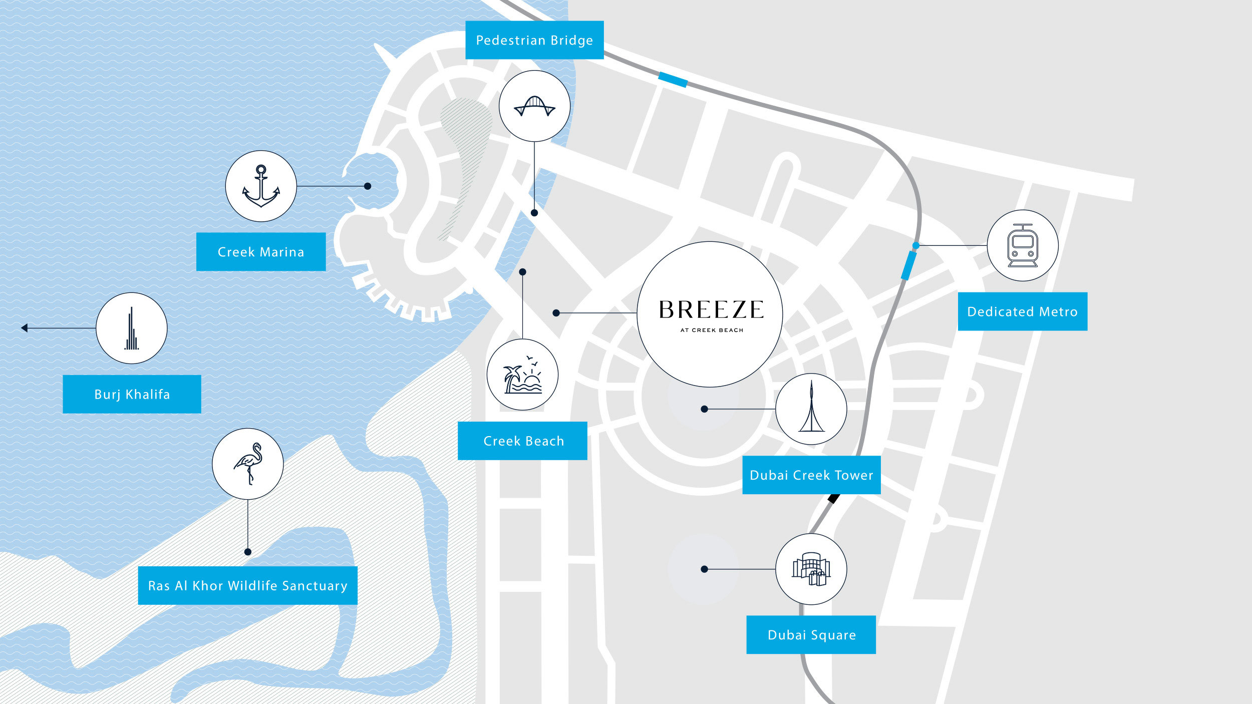 Breeze at Creek Beach in Dubai Creek Harbour by Emaar, Dubai – Off-Plan Apartments