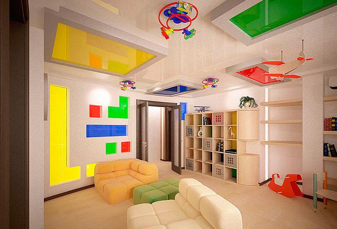 Тематический потолок в детской