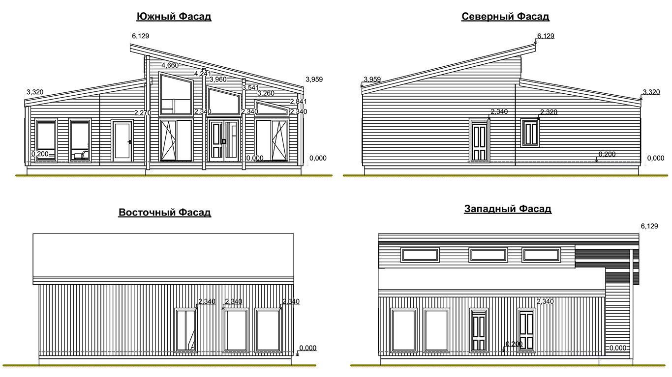 Фасады Lindau Rahmenhaus (Каркасный дом Линдау)