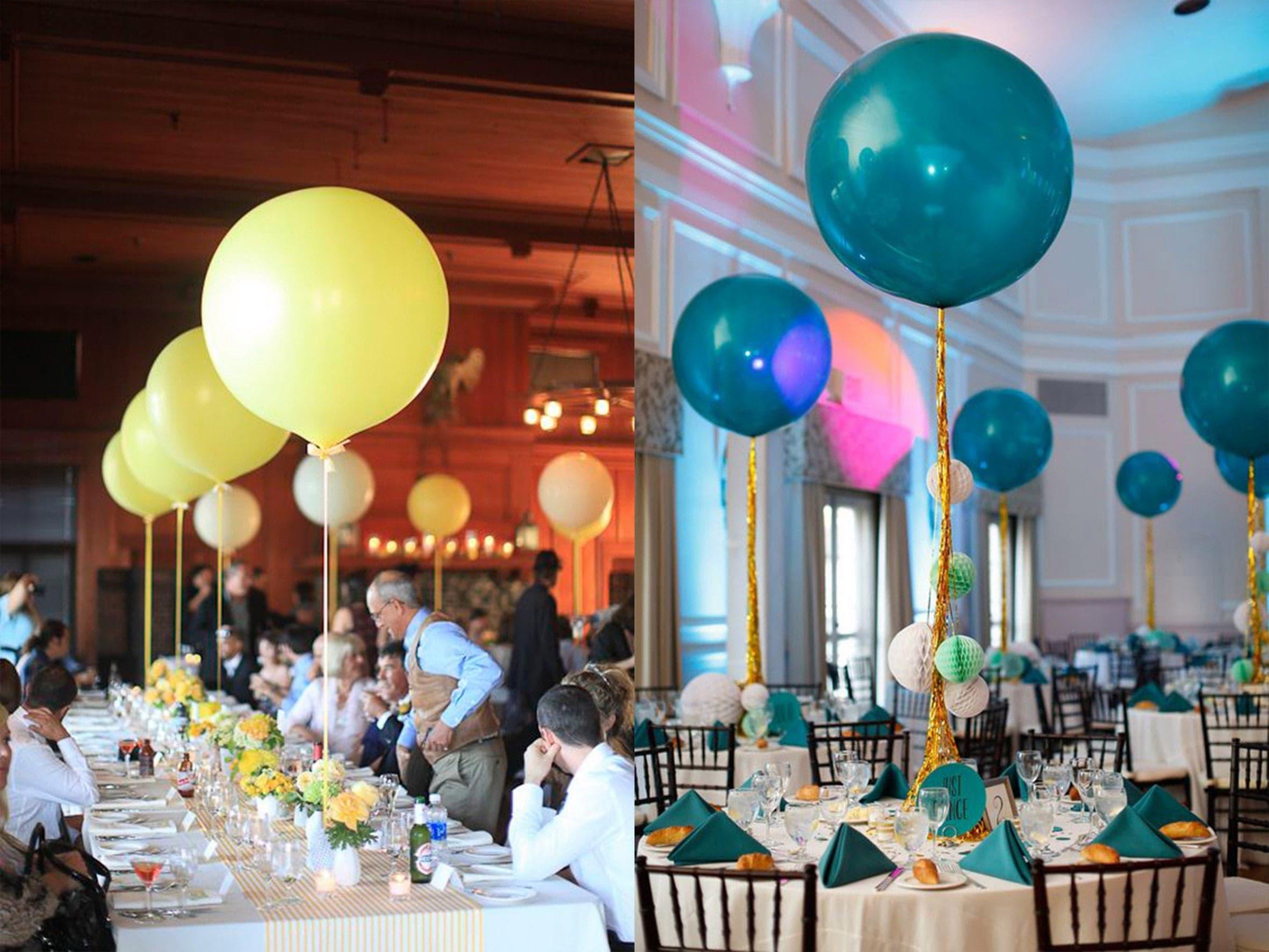 украшение свадьба шарами