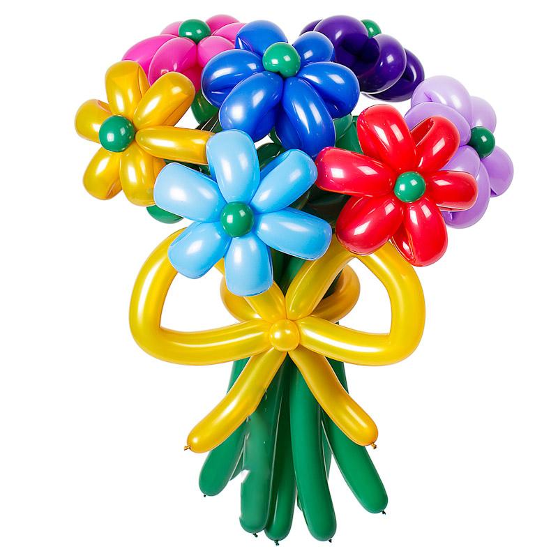 7 цветных   ромашек