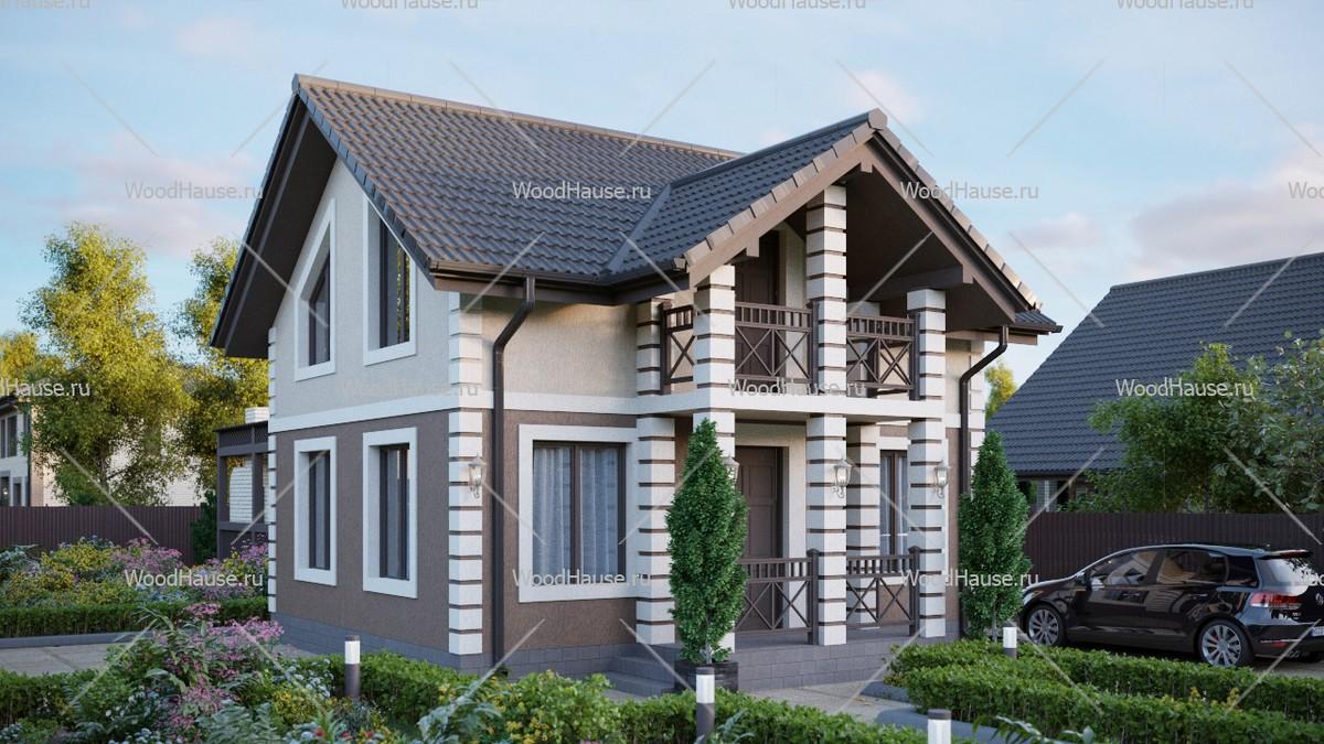 Дом из сип панелей 2 этажа