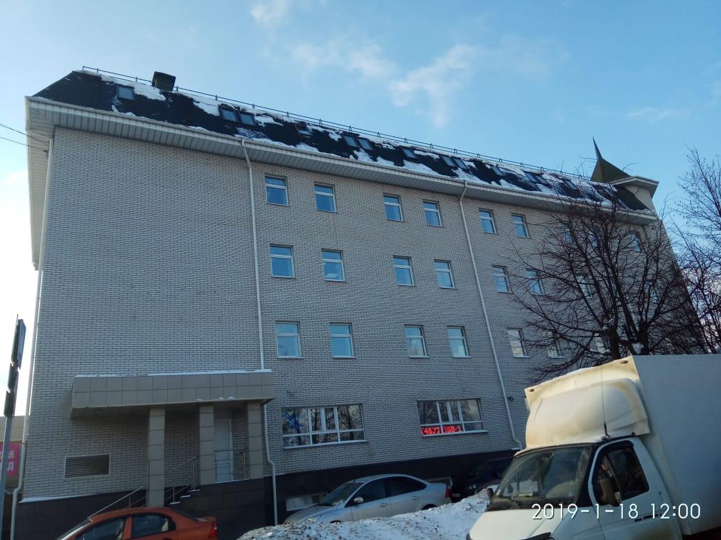 чистка снега на крыше
