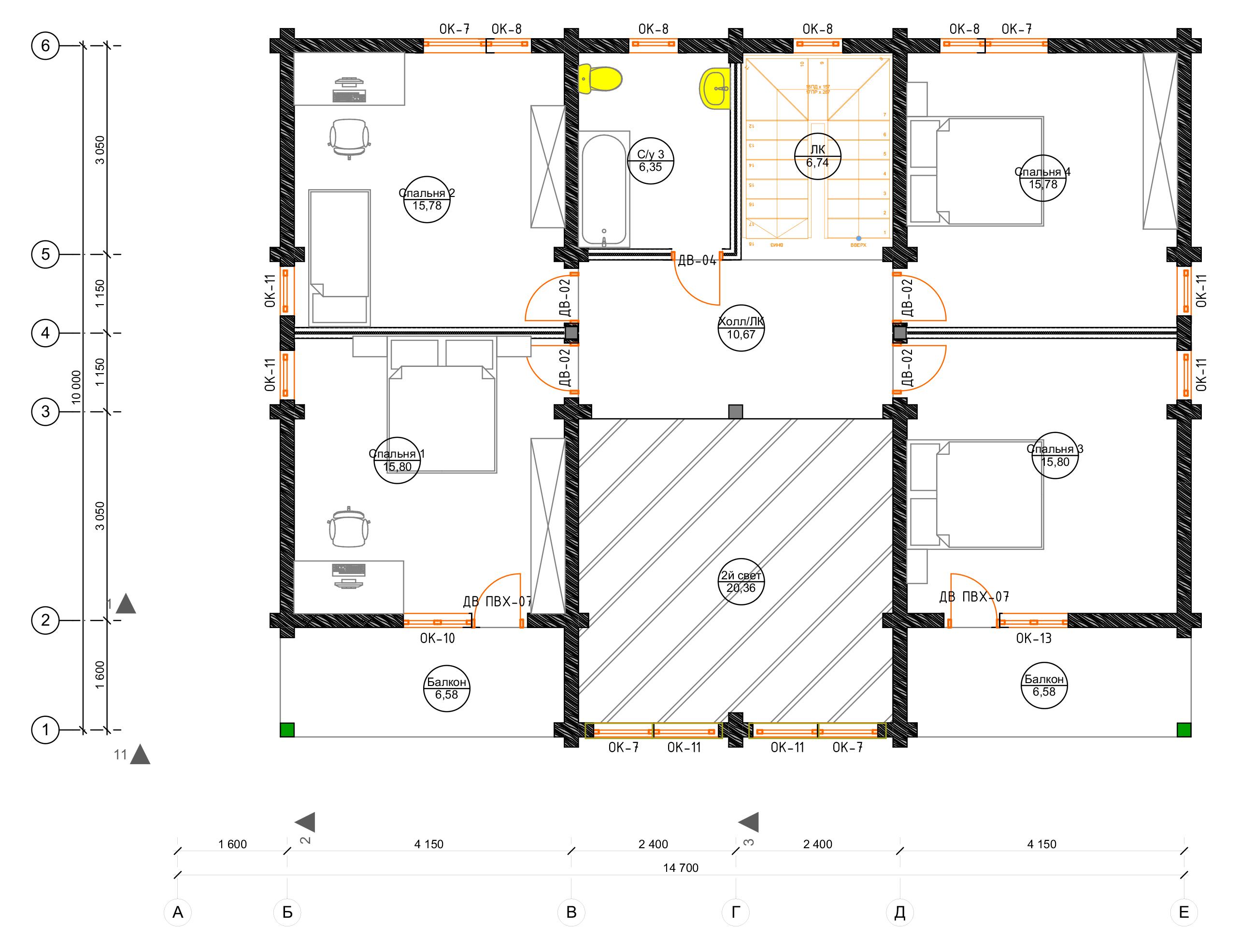План второго этажа Berlin (Дом Берлин)