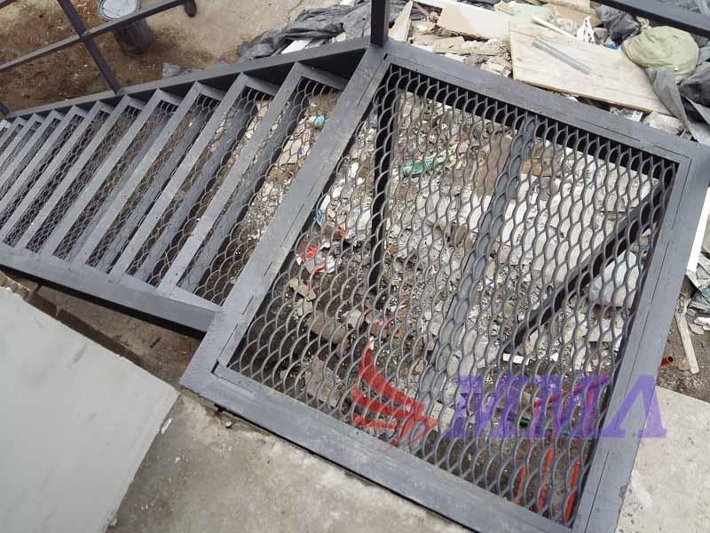 промышленная лестница, площадка, ПВЛ лист, труба,лестница