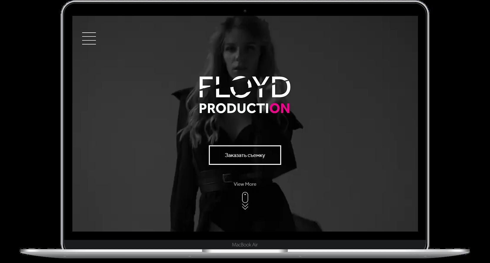 Сайт для видео продакшена