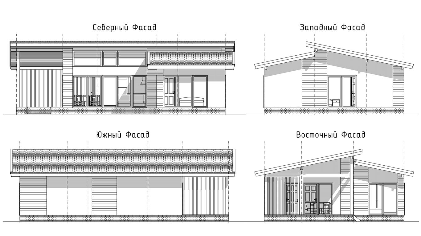 Фасады Hagen Rahmenhaus (Каркасный дом Хаген)