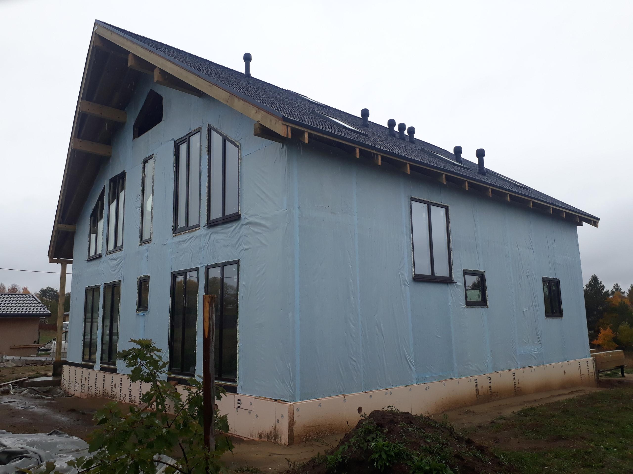 фото дома из сип панелей №5 терра выборгское