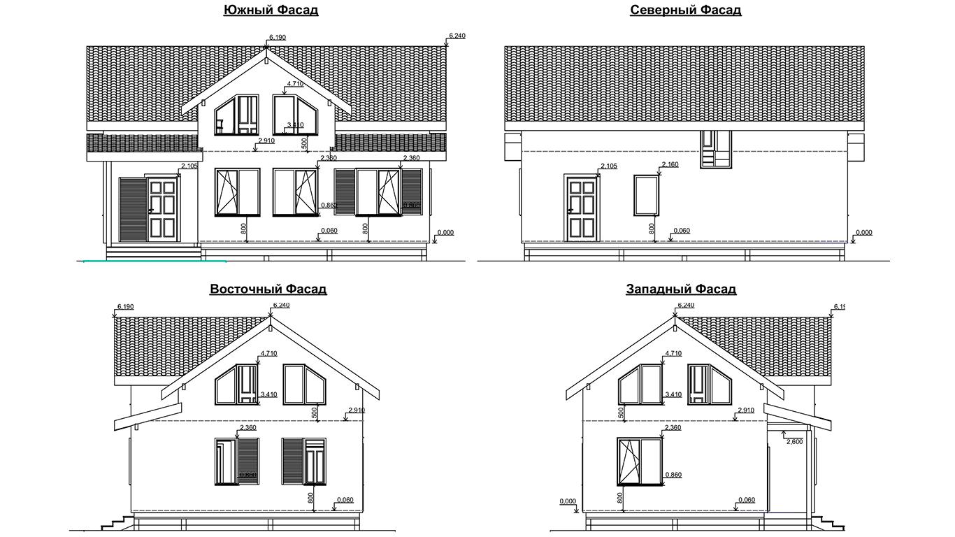 Фасады Osterburg Rahmenhaus (Каркасный дом Остерберг)
