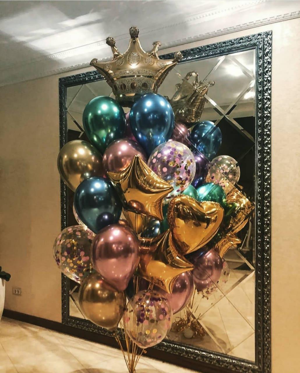 Хромированные шары с короной