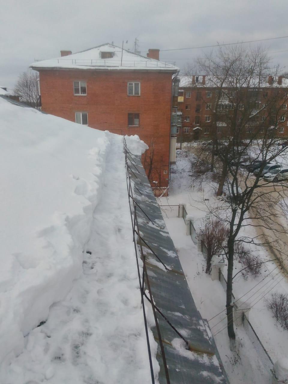 очистка крыши от наледи
