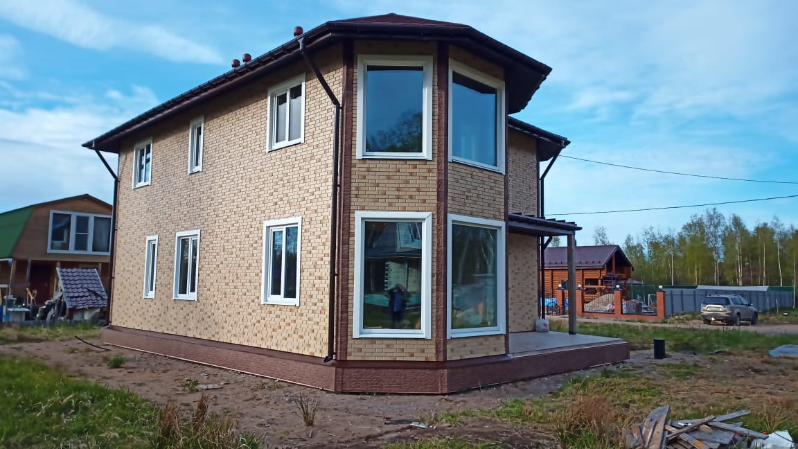 фото дома из сип панелей №12 коккорево