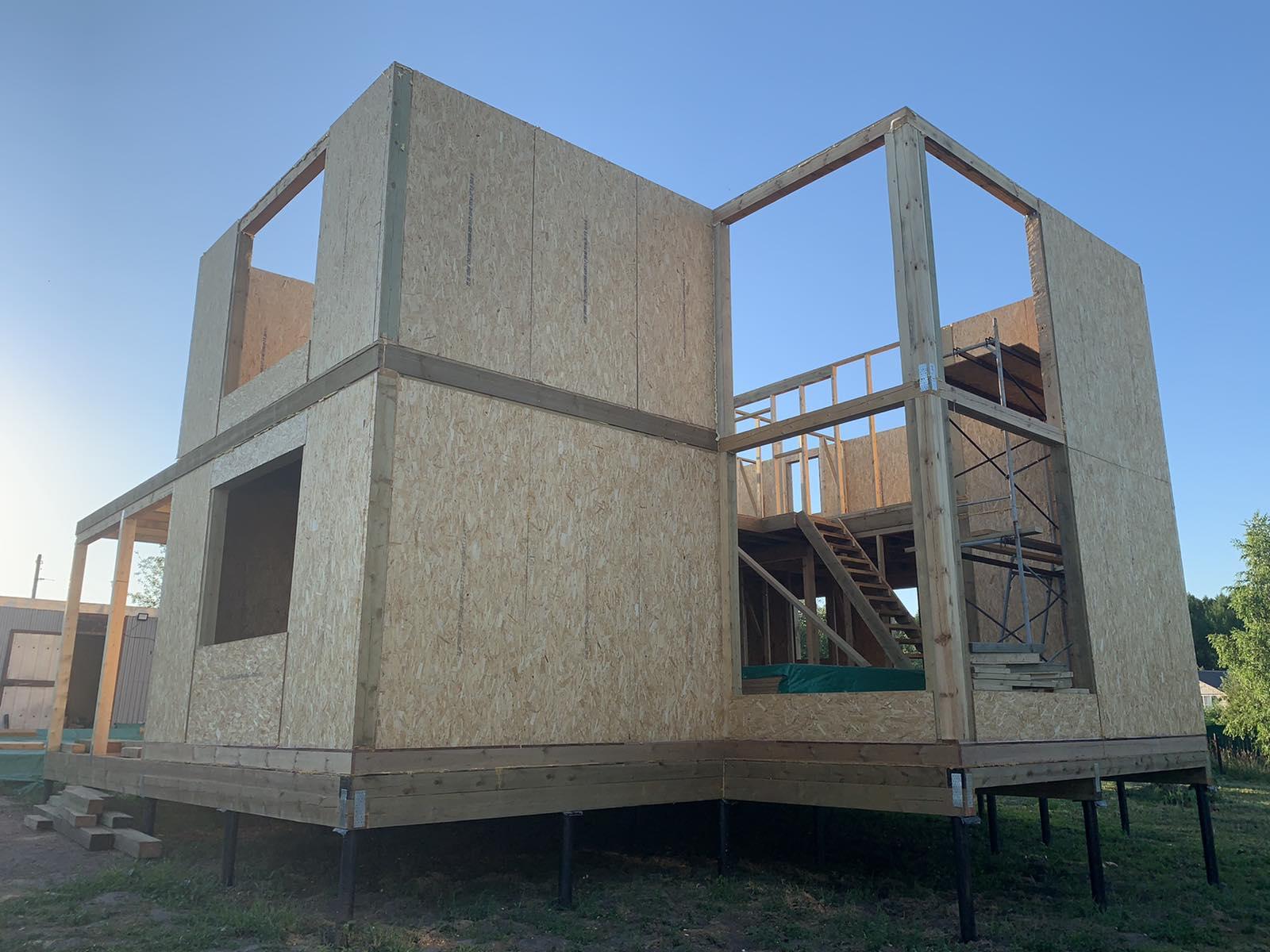 фото дома из сип панелей №2 курск