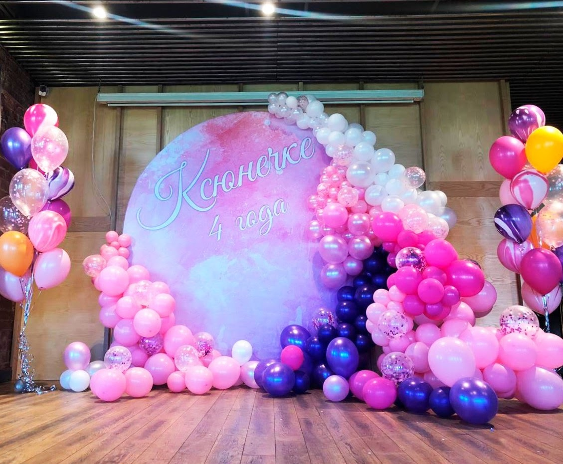 фотозона из шаров для девочки
