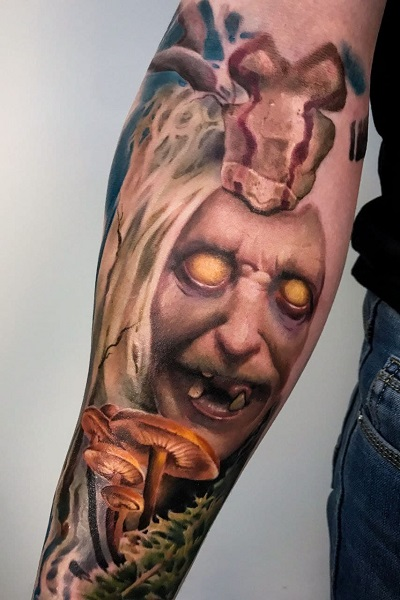 татуировка баба яга цветная