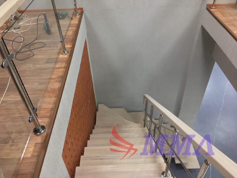 лестница, ступени, дуб, дерево,