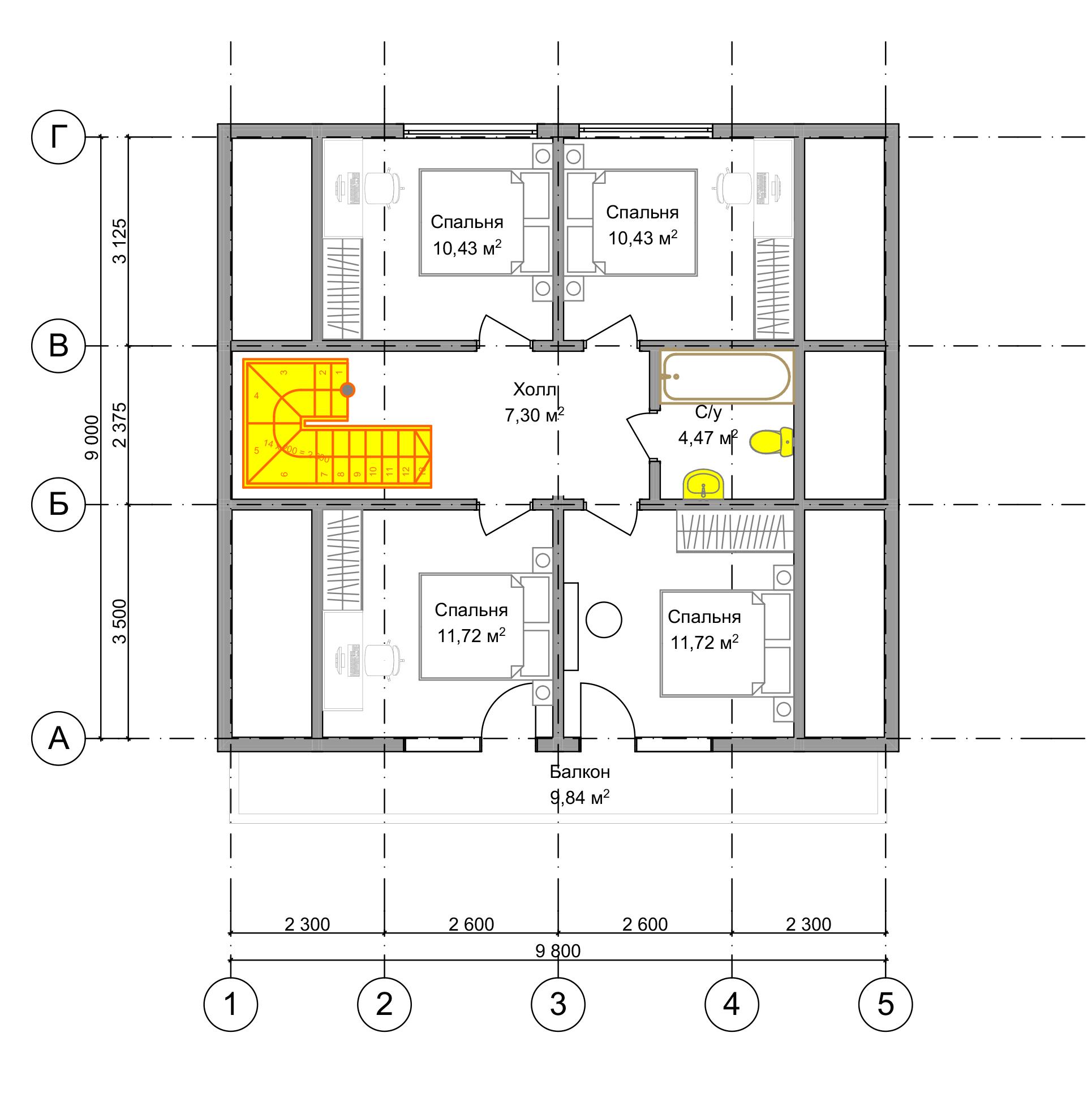 План второго этажа Frankfurt 2.0 (Дом Франкфурт)