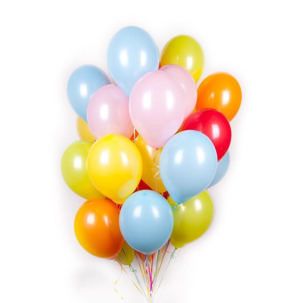 Обычные цветные шары
