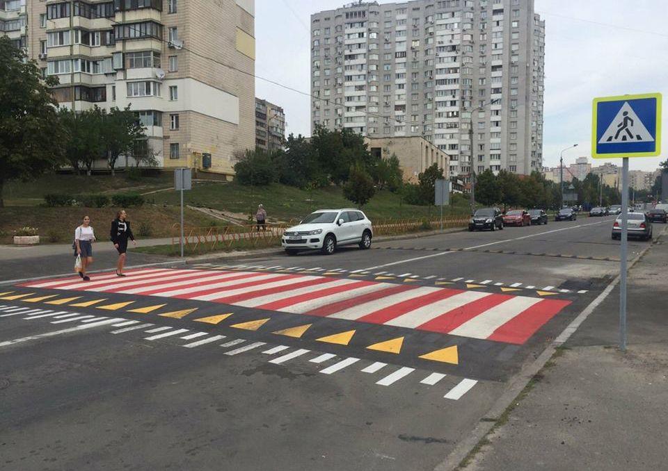 асфальтобетонный пешеходный переход