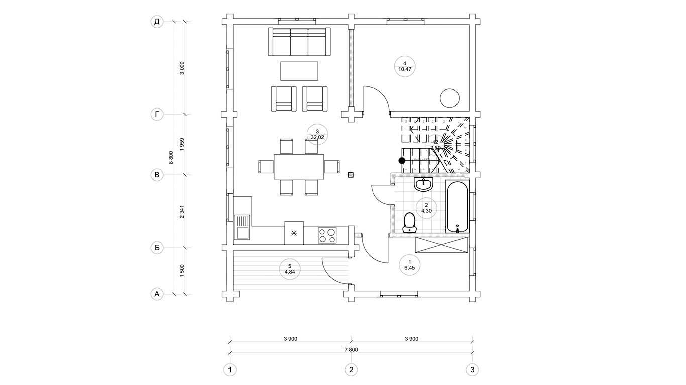 План первого этажа Magdeburg (Дом Магдебург)