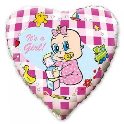 Фольгированный шар Сердце на выписку 300 руб.