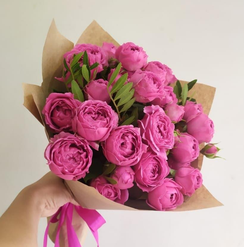 11 пионовидных роз сорта Мисти Баблс