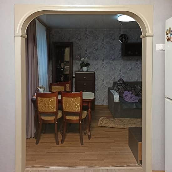 Межкомтная арка под цвет кухни